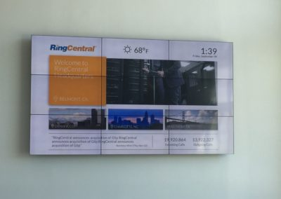 Ring Central video wall announcment