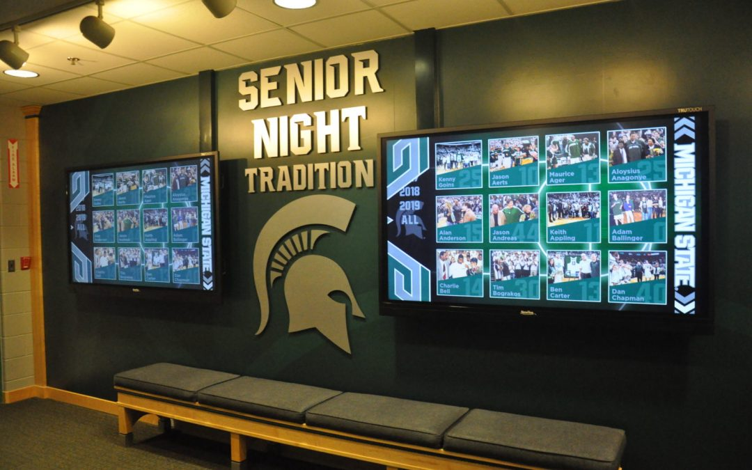 Red Dot and BrightSign Power New Spartan Player Wall of Fame at Michigan State University – Sound & Video Contractor Magazine
