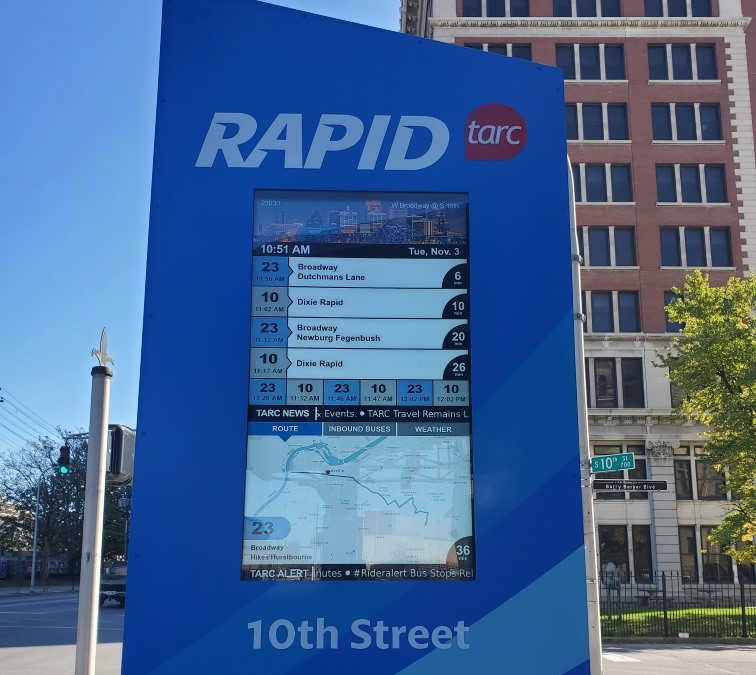 Red Dot deploys digital signs at Rapid Transit stops on Dixie Highway, KY
